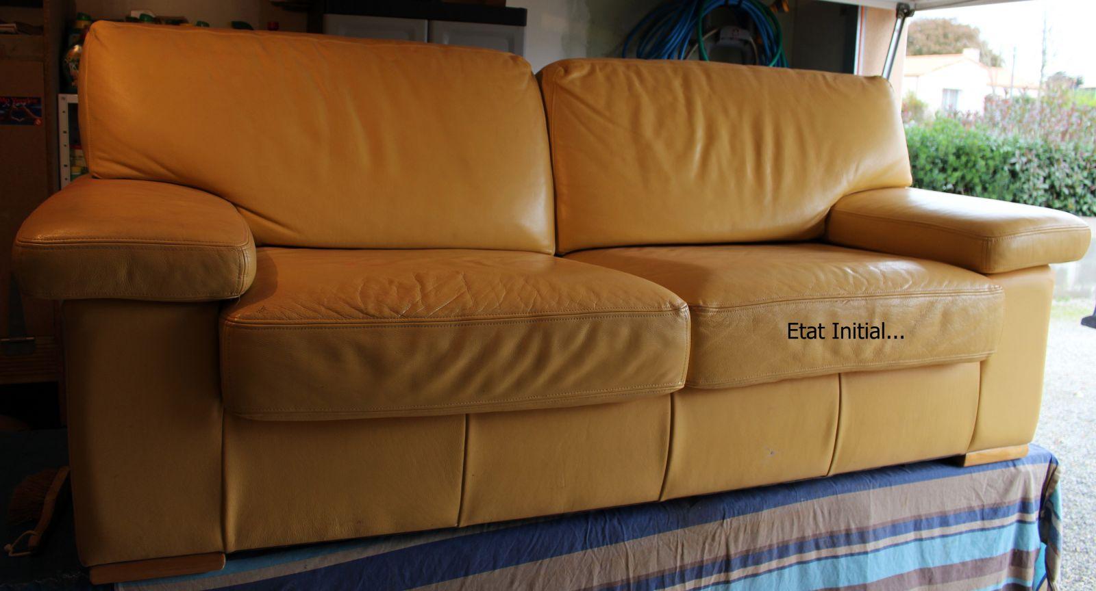 pigmentation canap cuir jaune vers gris noir. Black Bedroom Furniture Sets. Home Design Ideas